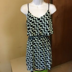Trixxi Chevron Print Dress